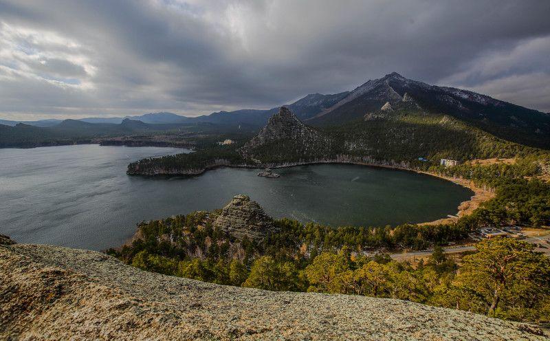 Вид на озеро Боровое с горы photo preview