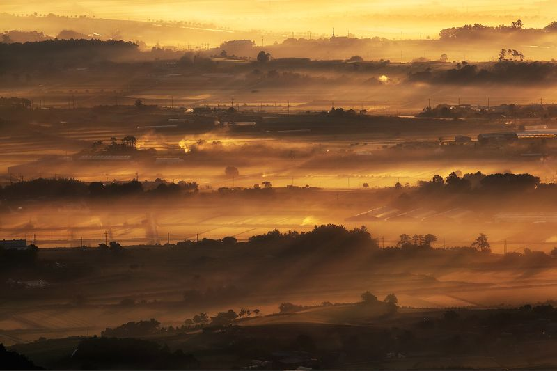 Hills, Korea, Layers, Miljae Those Misty hillsphoto preview