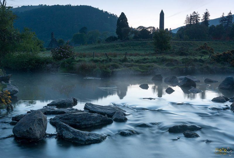 Ирландия, фототур, закат, река Глендалохphoto preview