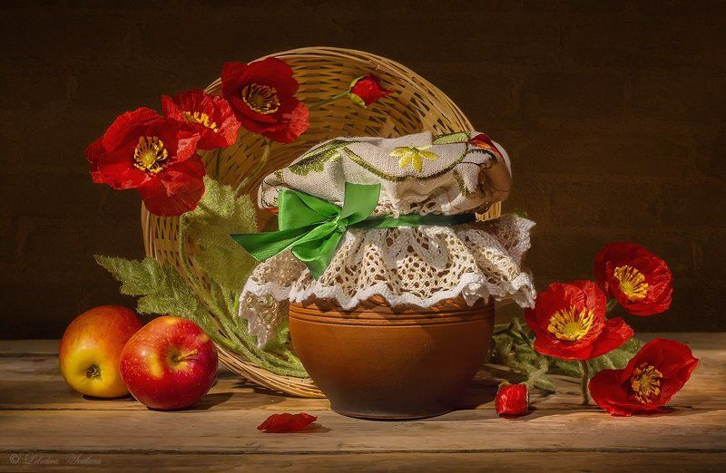 маки,цветы,букет,крынка,сметана Натюрморты с макамиphoto preview