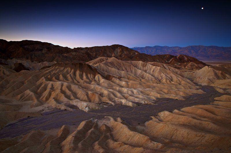 sunrise, zabriskie, death valley,  First Daylightphoto preview