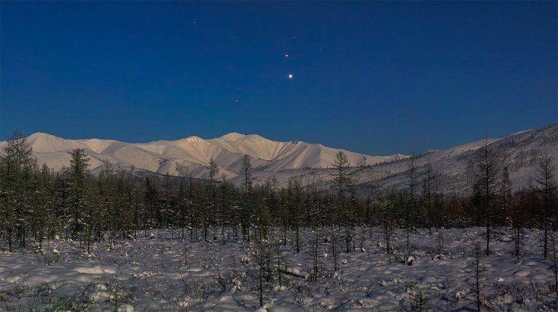 Якутия, полнолуние, малый парад планетphoto preview
