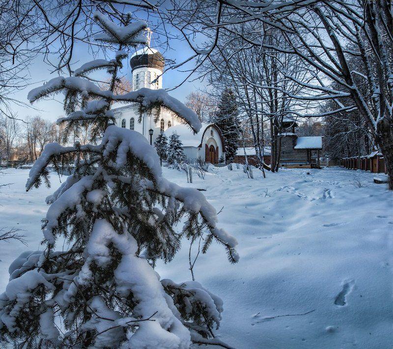 Подмосковье, Марьина Гора, январь Рождественские прогулкиphoto preview