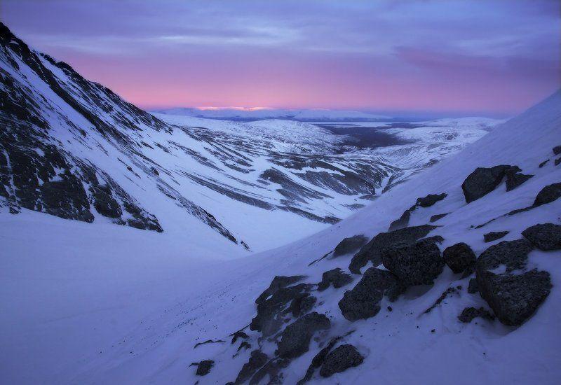 Кольский полуостров, Хибины Закат над Умбозеромphoto preview
