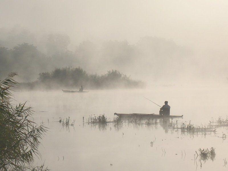 Река. Утро. Туман. Рыбаки. Утренний релакс.photo preview