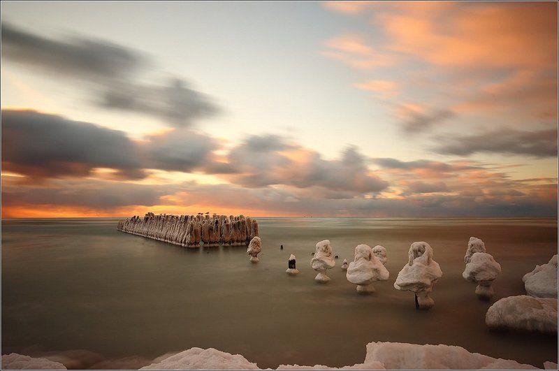Giedriusfoto, Балтийское море, Лед, Литва, Облака замороженныеphoto preview