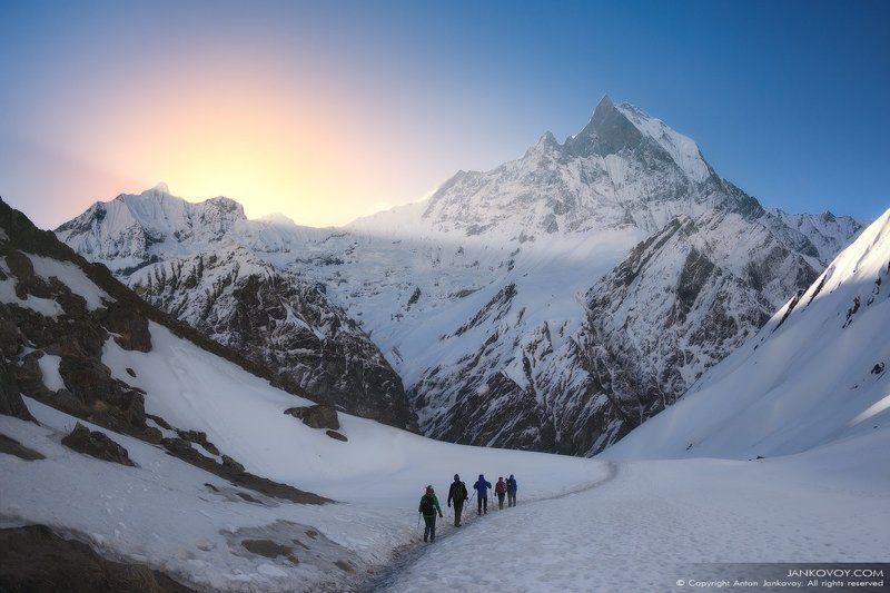 непал, аннапурна, гималаи, горы, путешествия, треккинг, снег, природа, рассвет, СЧАСТЬЕ НЕ ЗА ГОРАМИ. ОНО В ГОРАХ!photo preview