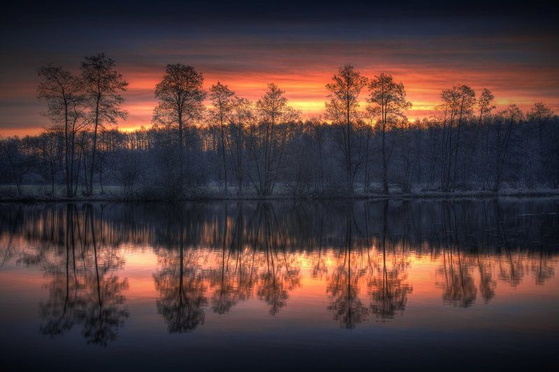 schwentine, schleswig-holstein, sunrise, reflection Peace of Morningphoto preview