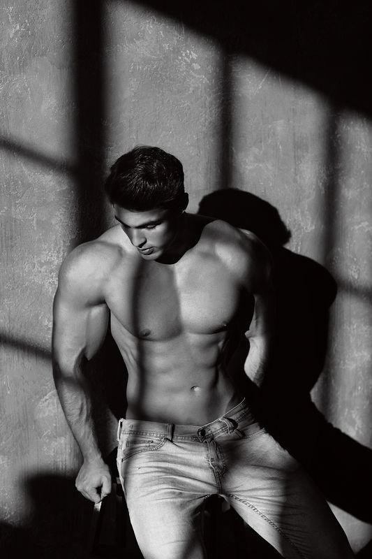 black and white, body, bw, face, fitness, man, style Davidphoto preview