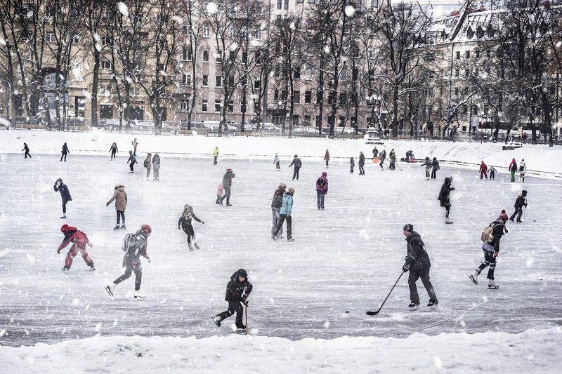 Зимой в городе.photo preview
