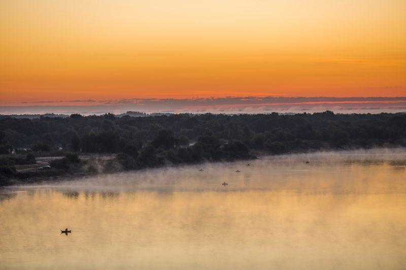 canon, утро, рассвет, рыбак, Рассвет. Туман. Рыбаки.photo preview