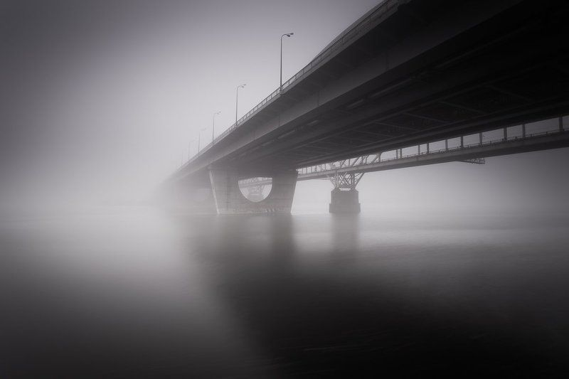 Fog, Kiev, Landscapes, Long exposure, Water smoothphoto preview