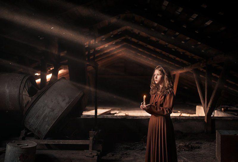 girl, light, magic ***photo preview
