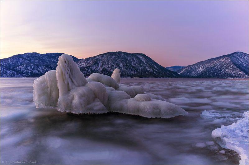 рассвет, телецкое озеро На восходphoto preview