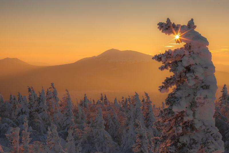 урал, зима, златоут, таганай, круглица, t_berg Теплые краски морозного закатаphoto preview