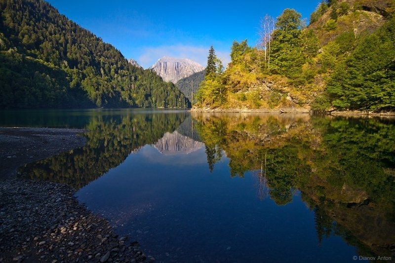 Абхазия, Рица, озеро, горы, путешествие Утро на Рицеphoto preview