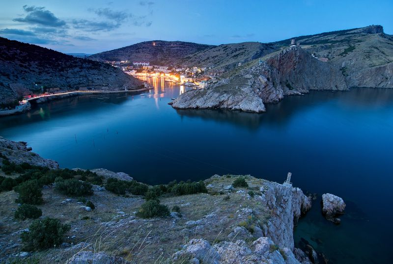 Крым, Балаклава, закат, ночь, пейзаж, море Балаклаваphoto preview
