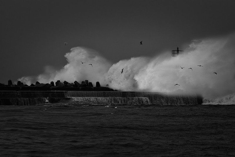 Baltic storm, Bw stormphoto preview