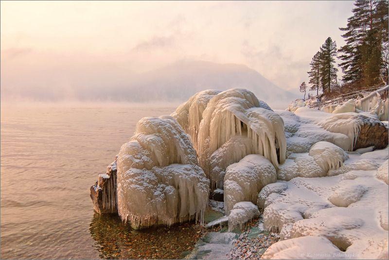 малая кобухта, телецкое озеро, телецкое, озеро, алтай, утро, мороз Скульптуры январяphoto preview