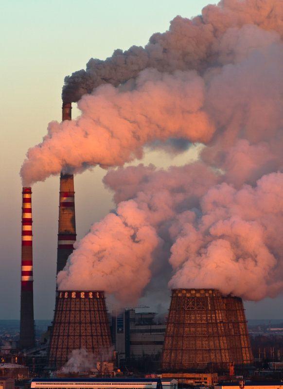 Пейзаж, закат, ТЭЦ, дым, urban exploration ТЭЦ-5photo preview