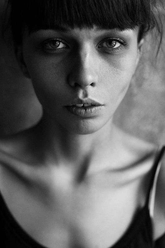 Beautiful, Black and white, Bw, Eyes, Girl, Light, Portrait Yphoto preview