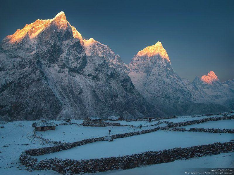 непал, гималаи, горы, трек, треккинг, снег, природа, пейзаж, путешествия, рассвет, ЗОВ ГОРphoto preview