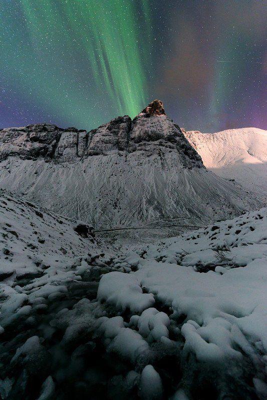 Звезды, Север, Северное сияние, Хибины Ночные Хибиныphoto preview