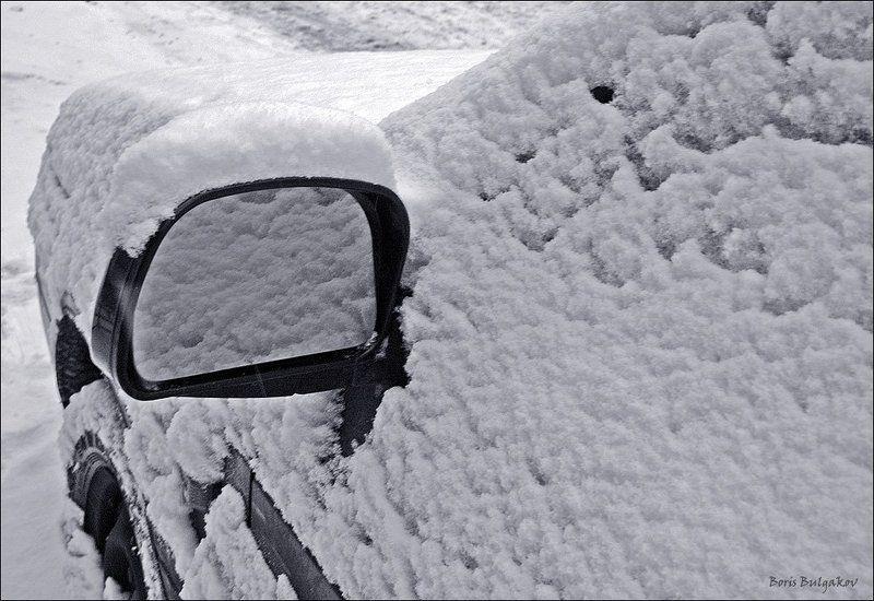 авто, зеркало, снег, макияж Автомакияжphoto preview