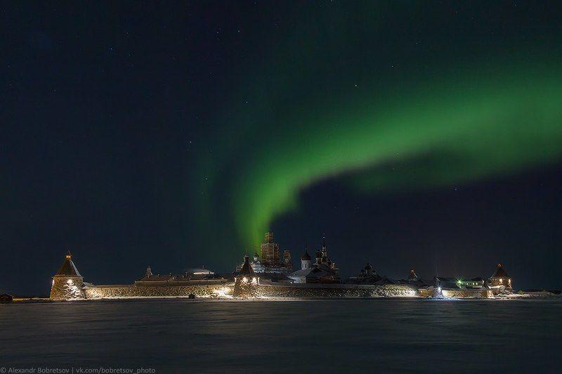 Север, Северноесияние, Соловки Соловецкая аврораphoto preview
