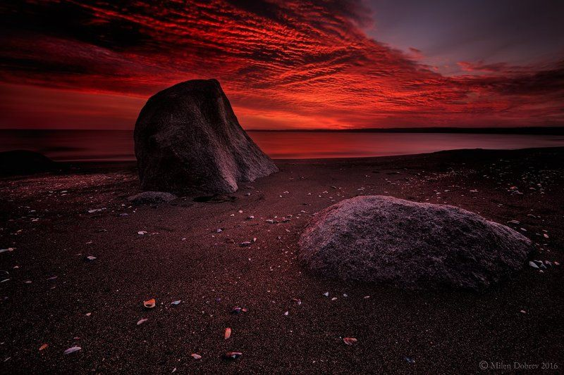 Sunrise,scenic, Bulgaria, morning, calm, serenity Fire in the skyphoto preview