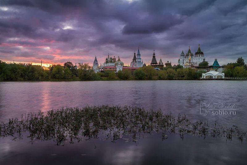 architecture, city, cityscape, e, вечер, закат, измайлово, москва, россия Смеркалось...photo preview