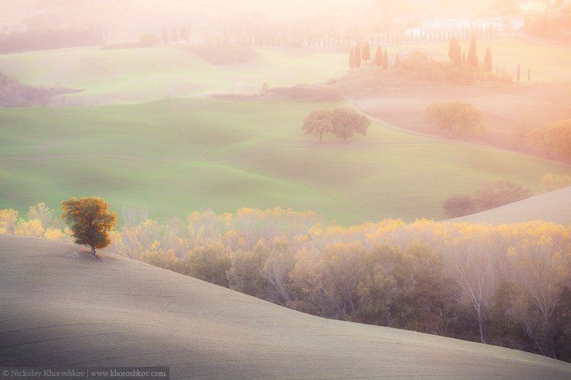 Italy, Tuscany, Италия, Тоскана Солнечные холмы Тосканыphoto preview