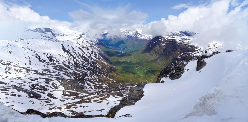 dalsnibba., norway. View of Geiranger from Dalsnibbaphoto preview
