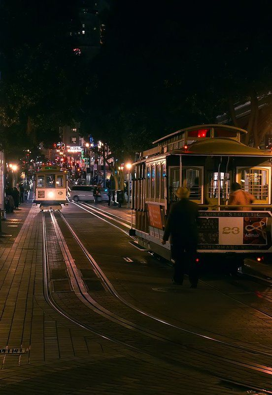 San Francisco Powell street   Night  on the Powell streetphoto preview
