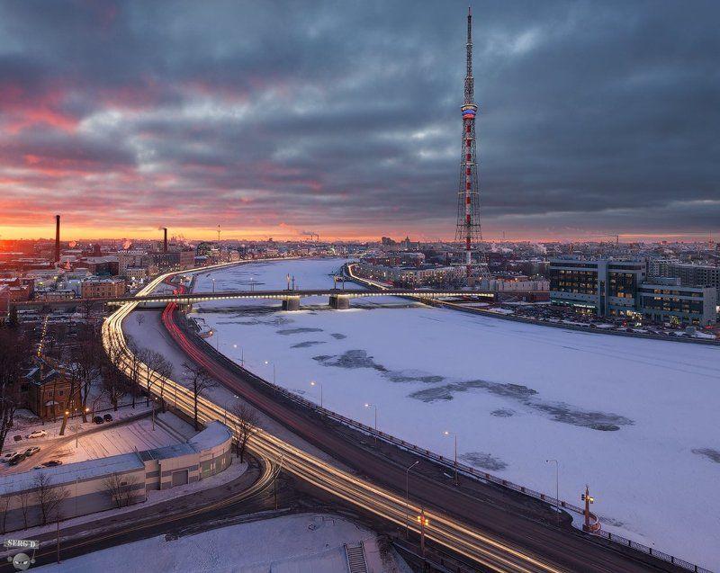 Кантемировский мост, Большая Невка, телебашняphoto preview