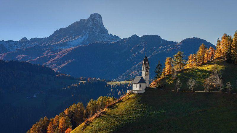 италия,  italy, доломиты, доломитовые альпы, альпы, dolomites, dolomiti, alps Часовня Святой Барбары.photo preview