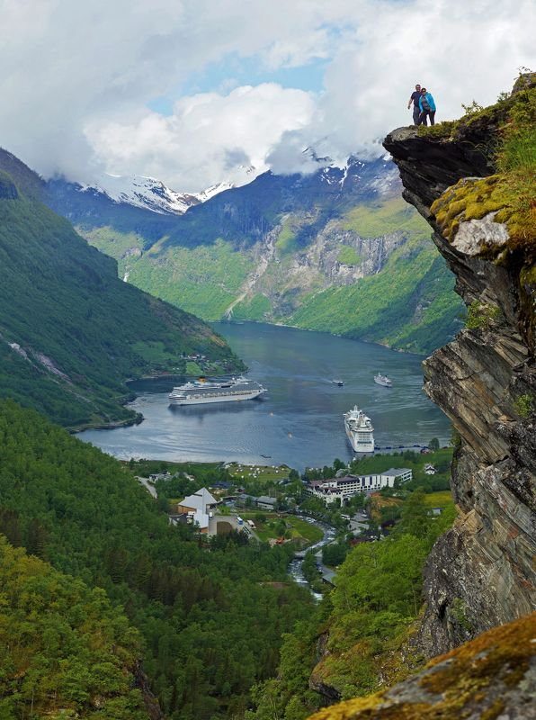 Geiranger. Norway Adrenaline lovers photo preview