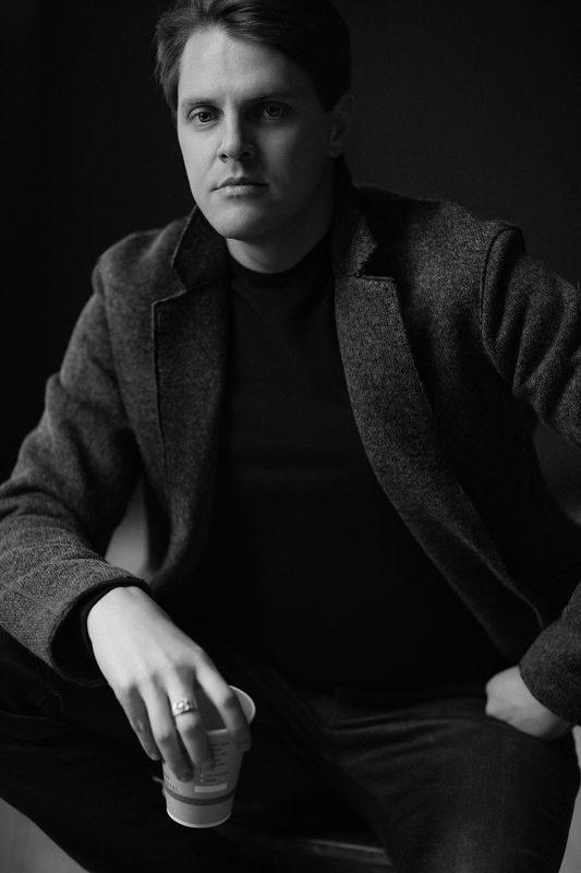 Actor, Black and white, Face, Ivan Ozhogin, Man Ivan Ozhoginphoto preview