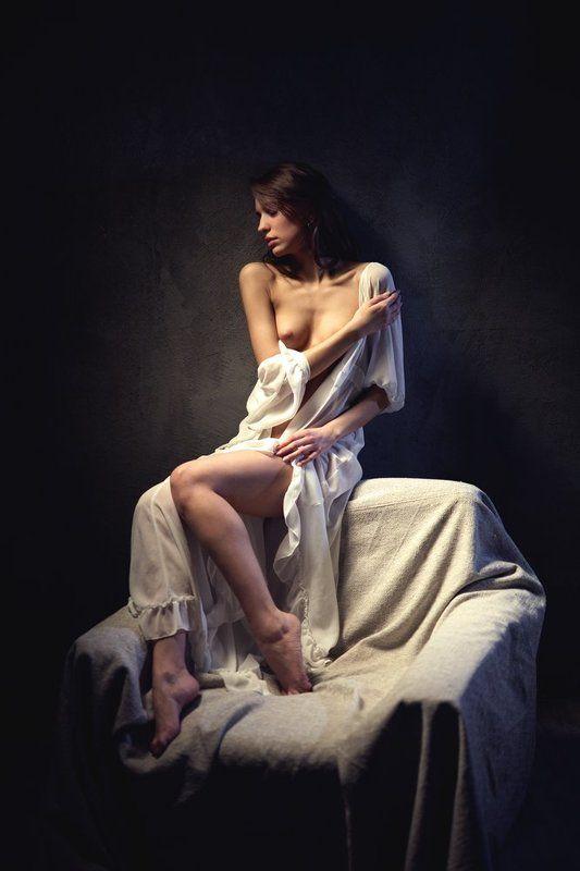 девушка, модель, студия, цвет, свет, ню *photo preview
