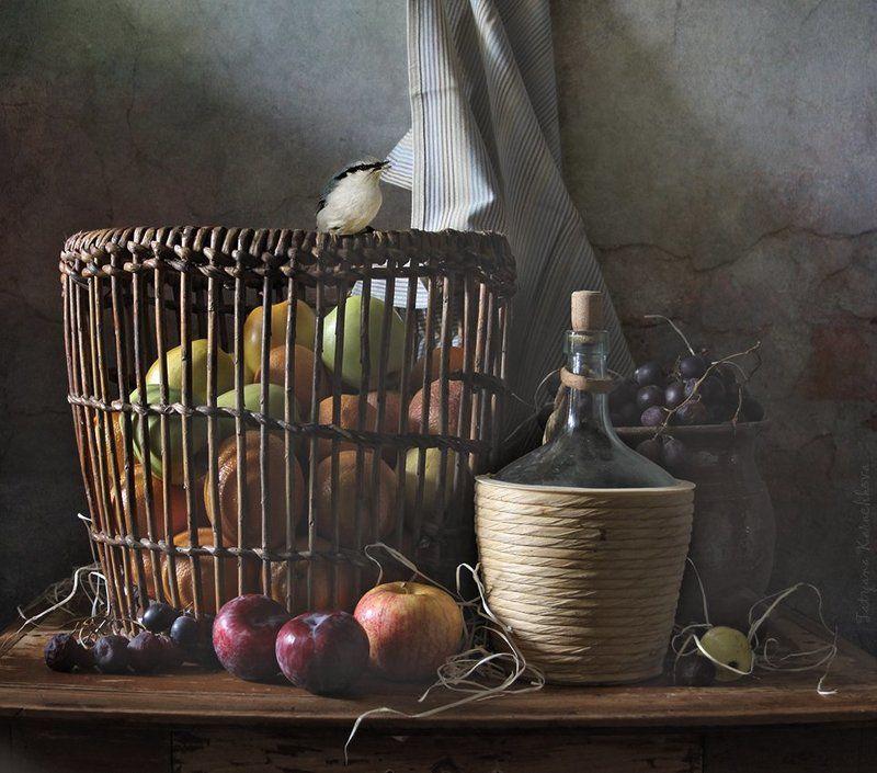 Корзина с фруктами, Осень Осенние фруктыphoto preview