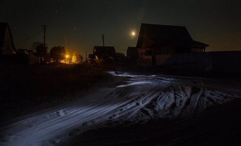 светопись, деревня, Сельцы Деревня Сельцы и... фонарикphoto preview