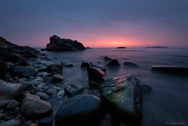 Landscape, seascape, sunrise, rocks, morning, shore, Black sea Black sea sunrisephoto preview