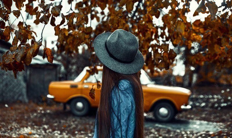 двор,осень, печаль, грусть, дождь, погода, желтая шестерка осеньphoto preview