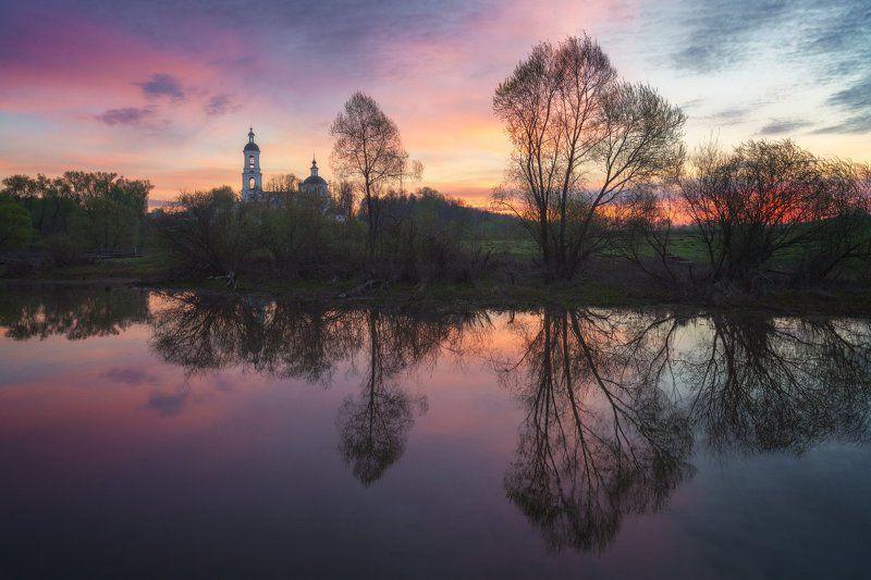 Пейзаж, Рассвет, Река, Филипповское, Церковь * * *photo preview