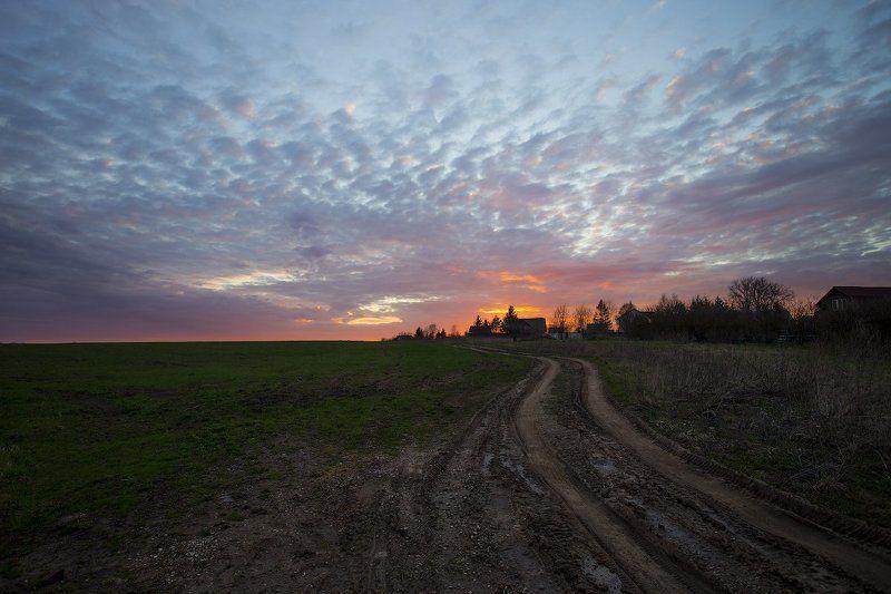 Дорога на закат.photo preview