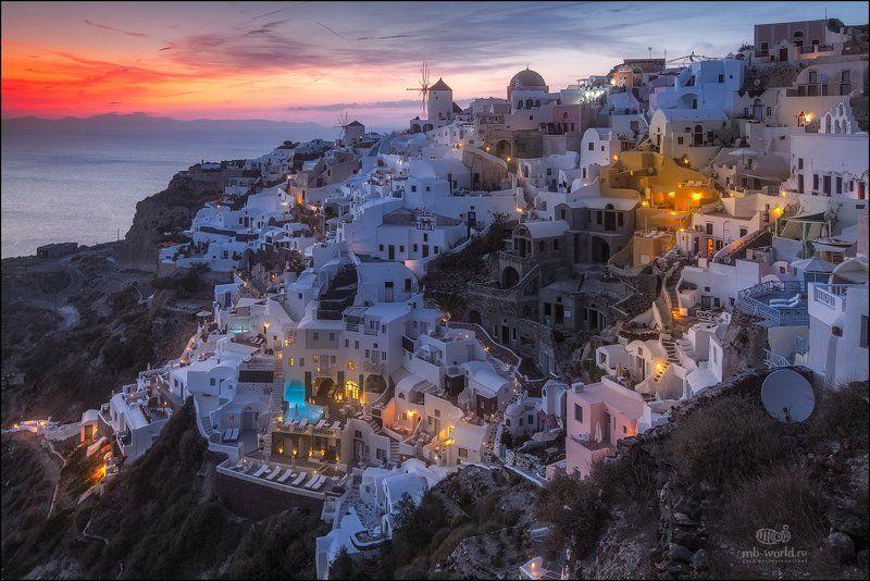 Санторини, Греция, Ия, закат Сказочный остров Санторини...photo preview