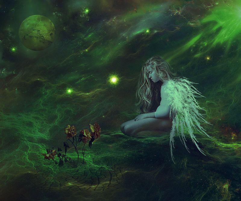 Ангел, Планета, Розы Little Angelphoto preview