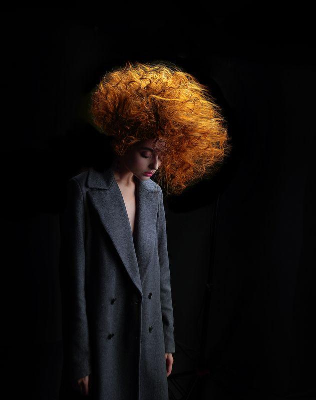 Волосы, Пальто, Портрет девушки, Прическа, Рыжая photo preview