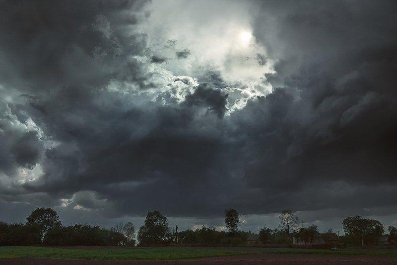 Весна, Гроза, Небеса, Небо, Облака, Пейзаж, Природа ***photo preview
