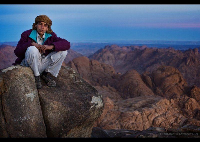 египет, горы, синай, моисей, бедуин, рассвет, egypt Гора Моисея | молодой бедуинphoto preview